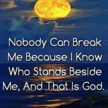 Nobody Can Break Me