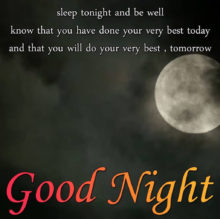 Sleep Tonight And Be Well