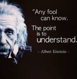 Any Fool Can Know...