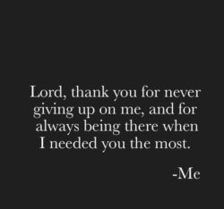 Lord, Thank You For...