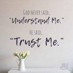 God Never Said...