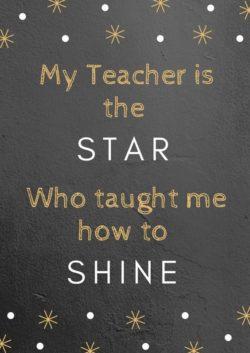 My Teacher Is A...