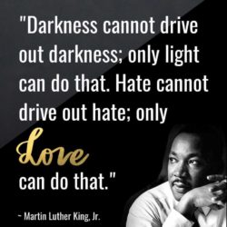 Darkness cannot drive out darkness Martin Luther Quotes
